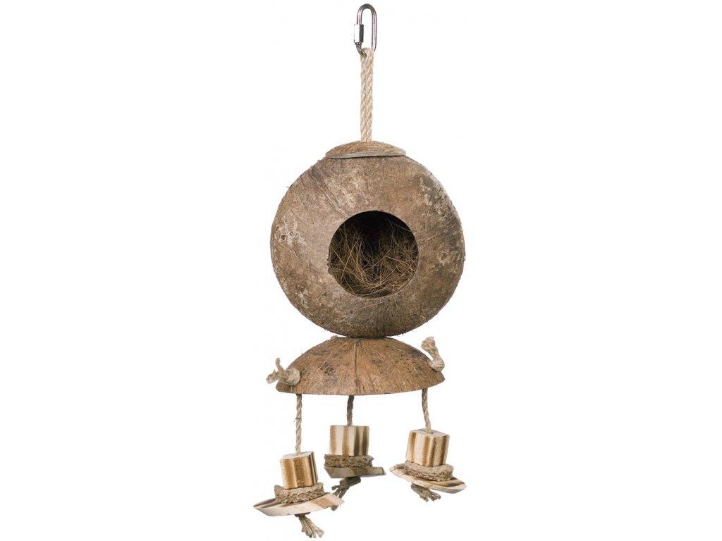 Nobby kokosový domek s dřev. prvky 34 x 11,5 cm