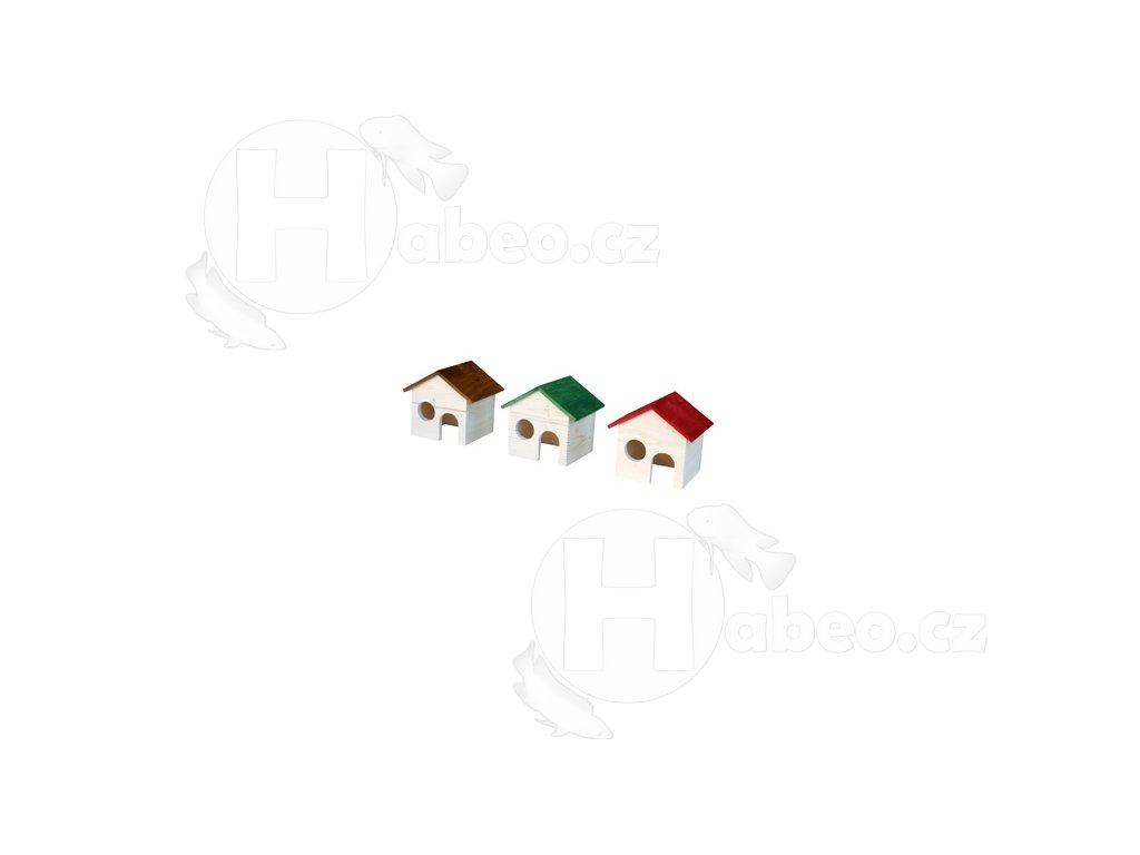 Domek s okýnkem pro křečky 802 domeček pro křečky domek pro hlodavce do terária nábytek pro hlodavce