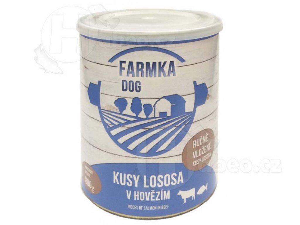 konzerva pro psa vyr 596FATMKA DOG s lososem 800g