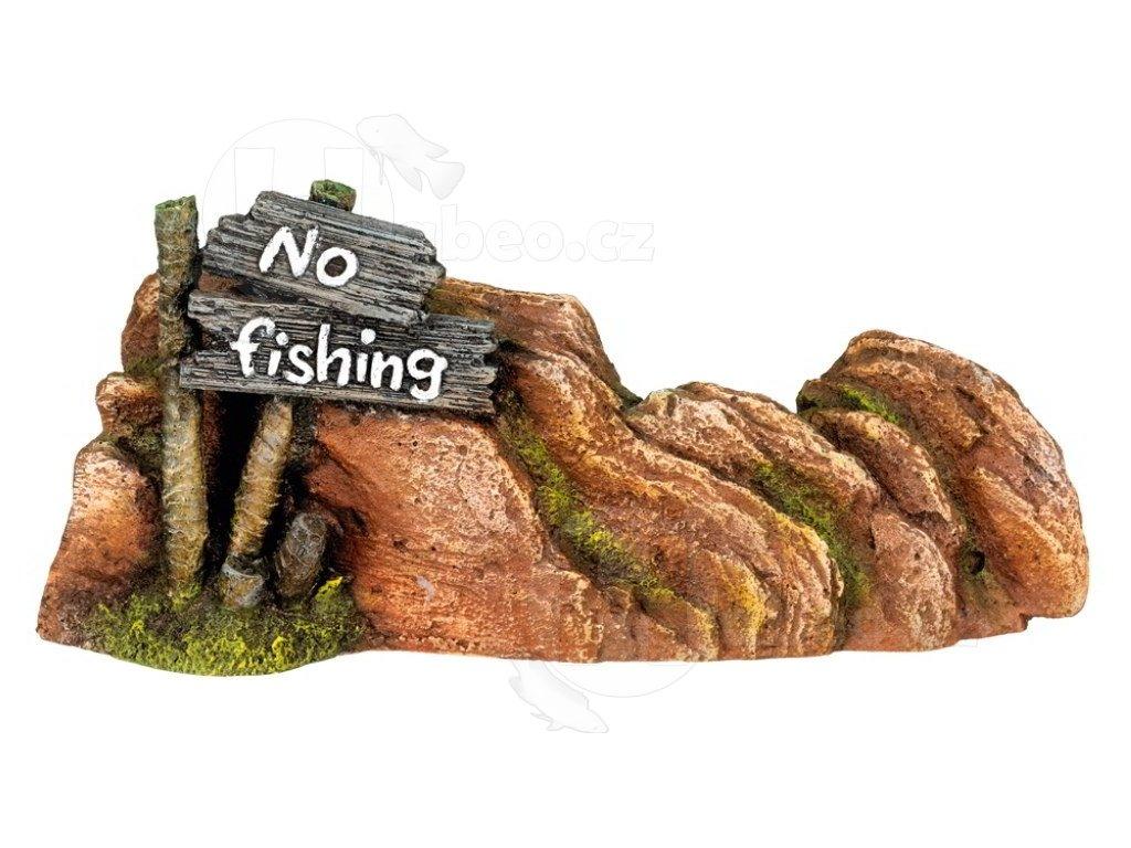 Akvarijní dekorace no fishing 23x5x10cm
