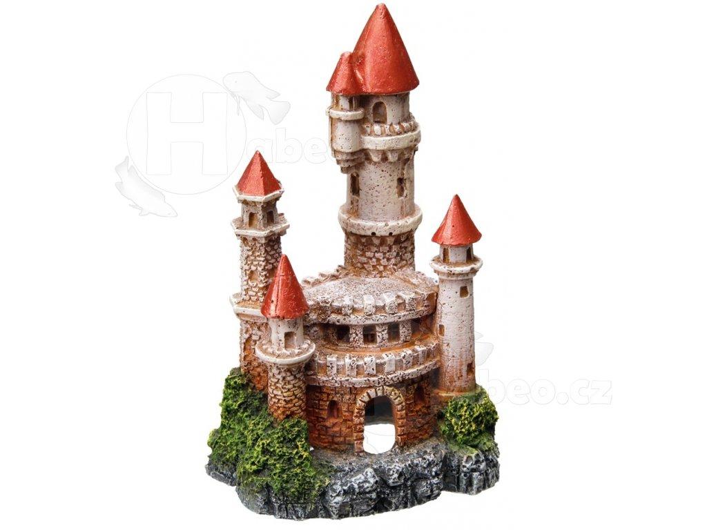 Akvarijní dekorace hrad 7,5x6,5x12,5cm