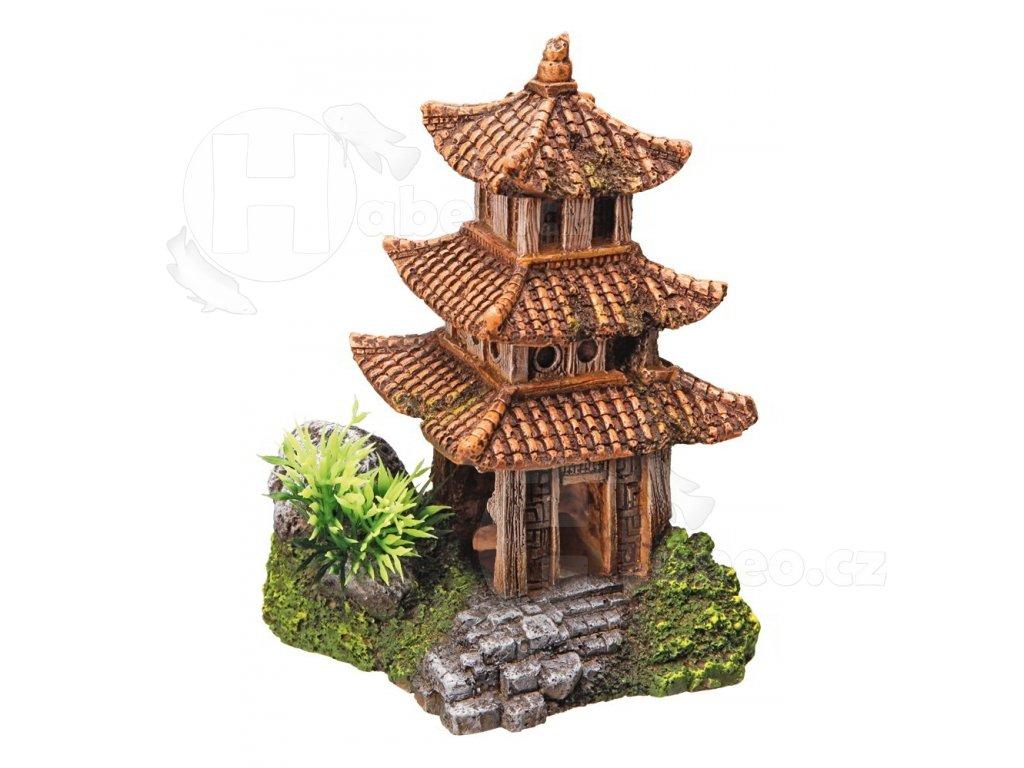 Akvarijní dekorace asijský chrám 10x9x14,5cm