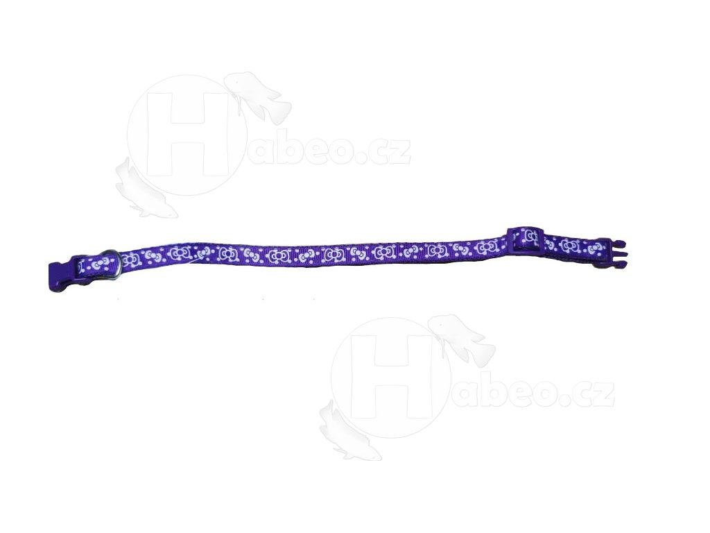 Obojek popruh plastová spona DOLEŽEL č.1 fialová