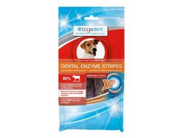 BOGAR bogadent DENTAL ENZYME STRIPES MEDIUM, pes, 100 g  Pásky jako pamlsek a zároveň zubní péče