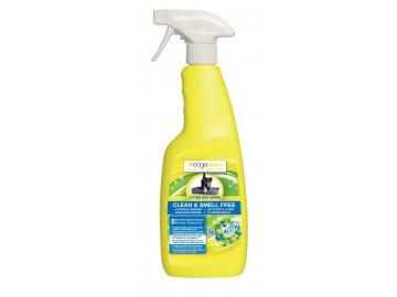 BOGAR bogaclean CLEAN a SMELL FREE LITTER BOX SPRAY, 500 ml  Odstraňuje skvrny a zápach, určeno pro podestýlky, kočičí toalety, škrabadla apod.