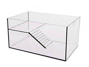 Želvárium lepené 30x20x15cm obsah:9litrů sklo:4mm