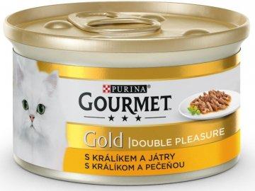 GOURMET Gold KK s králíkem a játry, gril. a duš. kousky 85 g habeo.cz