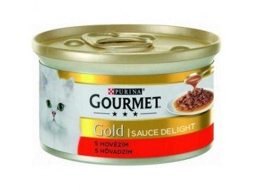 gourmet gold cat konzerva sauce delight hovezi