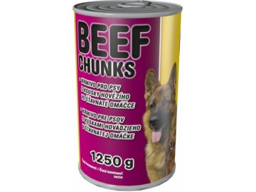 Delikan Dog hovězí kousky v ochucené omáčce 1250 g
