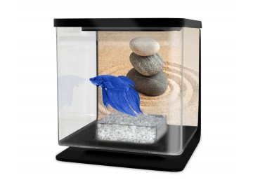 Akvárium betta 2l černá  + Vzorek krmení Ocean Nutrition pro Bojovnici pestrou