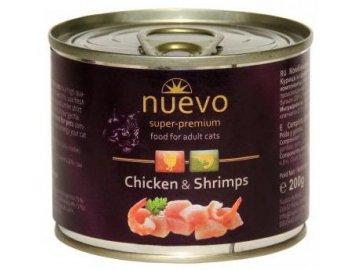 200g nuevo konzerva pro kocky adult kure a krevety