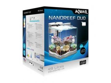 AQUAEL akvárium Nano Reef DUO, bílá, 49 l