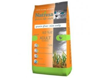 Nativia ADULT DUCKRICE hairball 15 kg 500x500