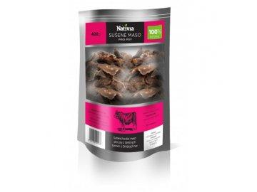 Sušené hovězí maso pro psy z čerstvých surovin z Orlických hor 400 g