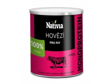 Hovězí maso pro psy 800 g konzerva pro psa habeo.cz