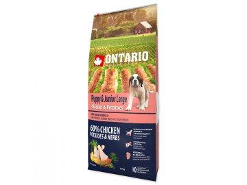ONTARIO Puppy & Junior Large Chicken & Potatoes & Herbs 12 kg granule pro psy habeo.cz