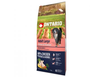 ONTARIO Dog Adult Large Chicken & Potatoes & Herbs 12 kg granule pro psa habeo.cz