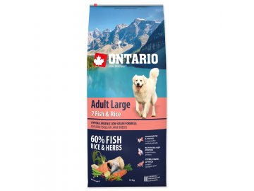 ONTARIO Dog Adult Large Fish & Rice 12 kg