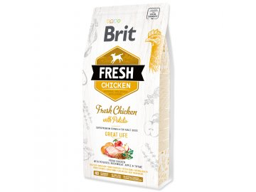 BRIT Fresh Chicken with Potato Adult Great Life 2,5 kg granule pro psy