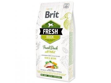 BRIT Fresh Duck with Millet Active Run & Work 2,5 kg granule pro psy