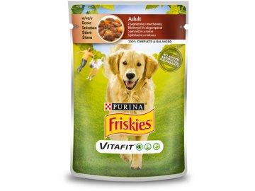 FRISKIES ADULT Dog 100 g s jehněčím a mrkví ve šťávě 12372570 gallery images