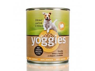 Yoggies krůtí konzerva pro psy s batáty a bodlákovým olejem 800 g Yoggies Konzerva Kruti 800g