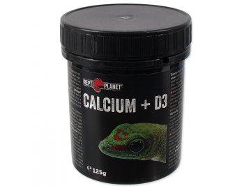 Repti Planet Calcium + D3 125 g kalcium a vitamíny d3 pro ještěry ještěrky terarijní zvířata habeo.cz