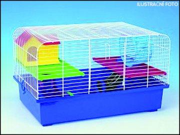 Klec SMALL ANIMALS CH1 modrá + žlutá 1ks