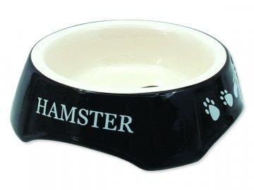 Miska SMALL ANIMALS potisk Hamster černá 13 cm 1ks
