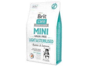 BRIT Care Dog Mini Grain Free Light & Sterilised 2 kg granule pro psy