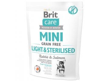 BRIT Care Dog Mini Grain Free Light & Sterilised 400 g granule pro psy