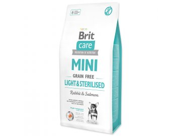 BRIT Care Dog Mini Grain Free Light & Sterilised 7 kg granule pro psa