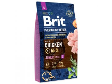BRIT Premium by Nature Junior S 8 kg granule pro psa habeo.cz