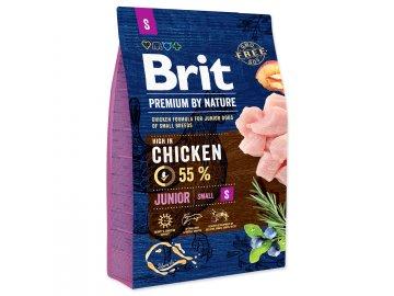 BRIT Premium by Nature Junior S 3 kg granule pro psy