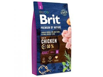 BRIT Premium by Nature Adult S 8 kg granule pro psy habeo.cz