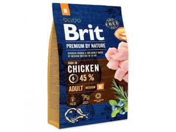 BRIT Premium by Nature Adult M 3 kg granule pro psy
