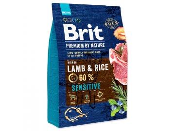 BRIT Premium by Nature Sensitive Lamb 3 kg granule pro psy