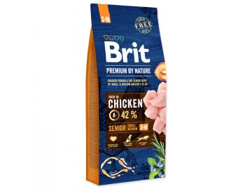 BRIT Premium by Nature Senior S+M 15 kg granule pro psy