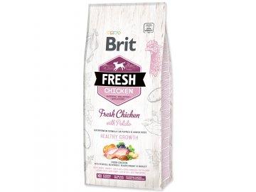 BRIT Fresh Chicken with Potato Puppy Healthy Growth 12 kg granule pro psy
