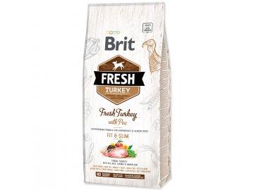 BRIT Fresh Turkey with Pea Light Fit & Slim 12 kg granule pro psy habeo.cz