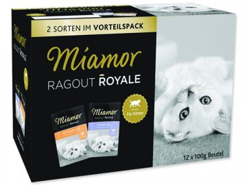 Kapsičky MIAMOR Ragout Royale Kitten v želé multipack 1200 g habeo.cz