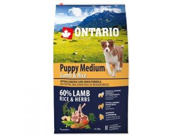 ONTARIO Puppy Medium Lamb & Rice 6,5 kg habeo.cz