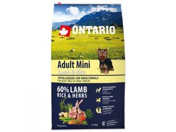 ONTARIO Dog Adult Mini Lamb & Rice 6,5 kg habeo.cz