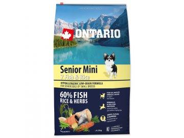 ONTARIO Senior Mini Fish & Rice 6,5 kg habeo.cz