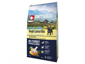 ONTARIO Dog Mini Weight Control Turkey & Potatoes 6,5 kg granule pro psy