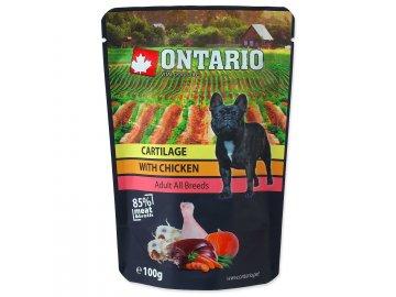 Kapsička ONTARIO Dog Cartilage with Chicken  in Broth 100 g habeo.cz