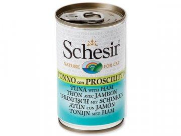 Konzerva SCHESIR Cat tuňák + šunka 140 g