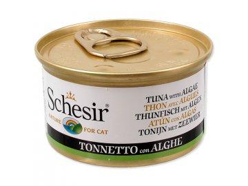 Konzerva SCHESIR Cat tuňák + mořská řasa v želé 85 g