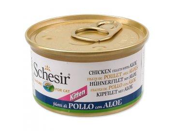 Konzerva SCHESIR Kitten kuřecí + aloe 85 g