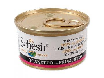 Konzerva SCHESIR Cat tuňák + šunka v želé 85 g
